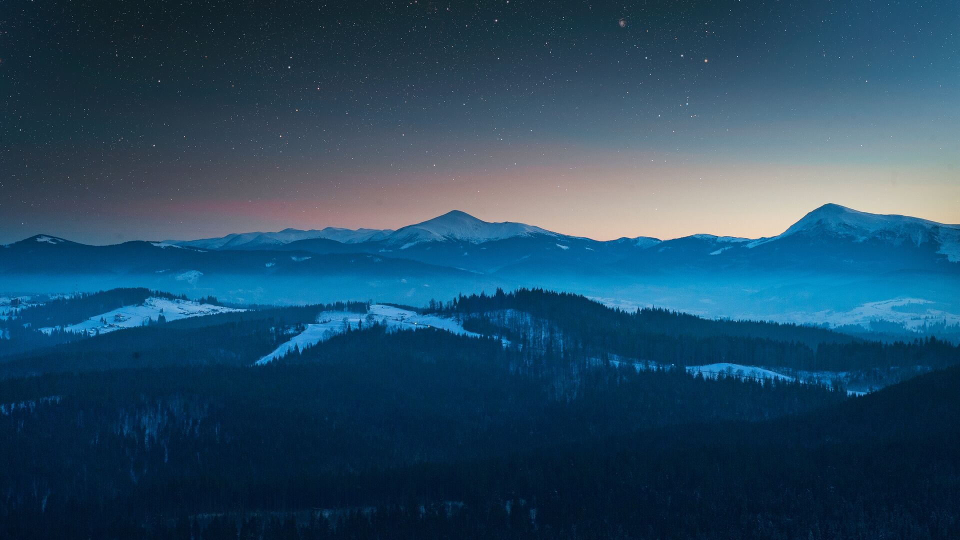 1920x1080 starry night sky
