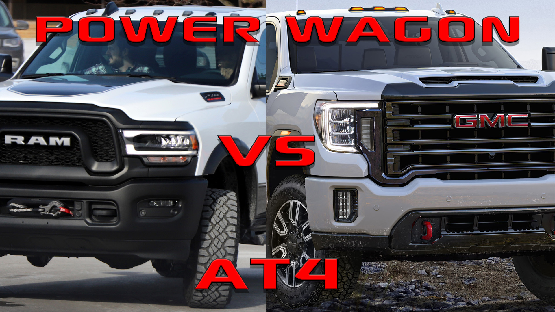 Competition: 2019 Ram Power Wagon VS 2019 GMC Sierra 2500 ...