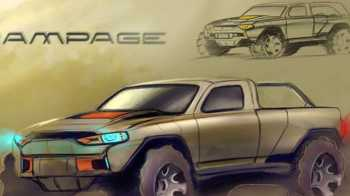Futuristic Ram Truck Design. (Joshua Reese).
