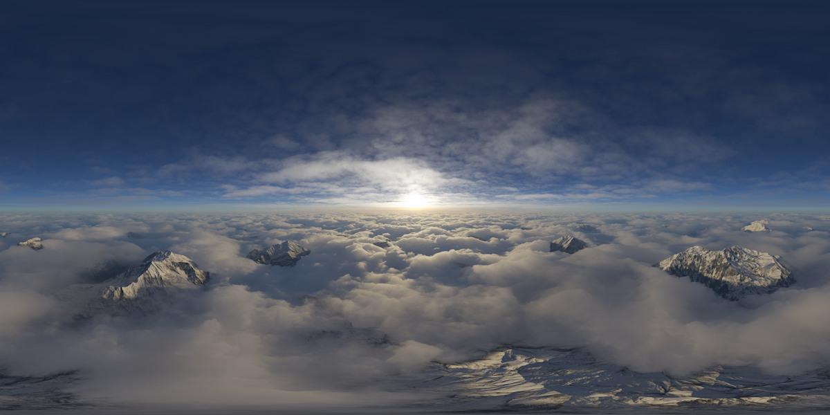 free hdri sky above