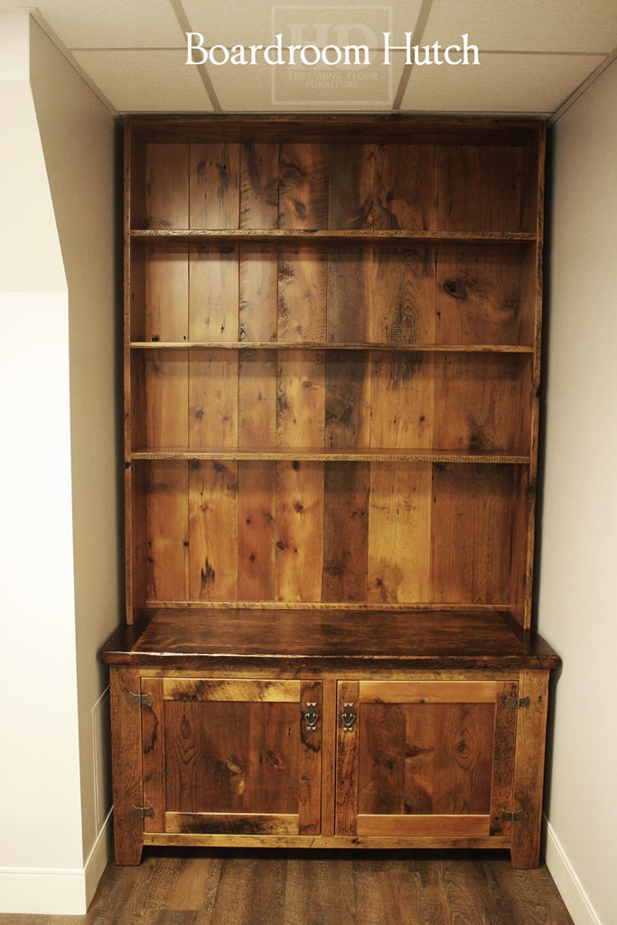 Cabinetry For Boardrooms Custom Reclaimed Wood Hutch  Blog