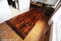 Modern High Gloss Reclaimed Wood Table in Hamilton ...