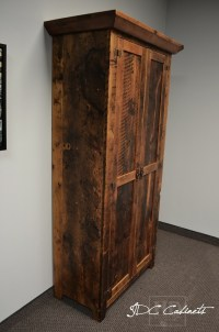Reclaimed Wood Hutch Cabinets in Toronto Law Office | Blog