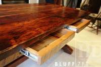 Reclaimed Wood Sawbuck Kitchen Table with Drawers  Dundas ...