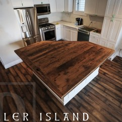 Barnwood Kitchen Table Backsplash Lighting Reclaimed Wood Bar & Island Tops | Hd Threshing ...