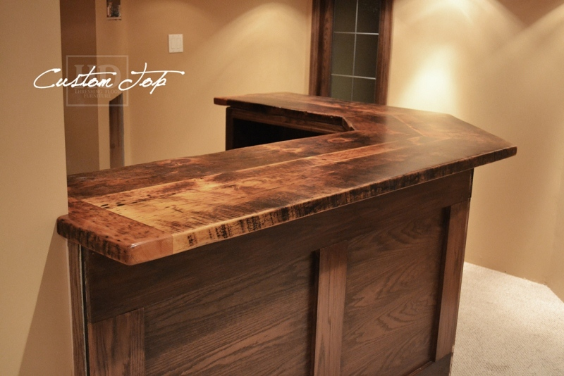 Reclaimed Wood Bar  Kitchen Island Tops  HD Threshing