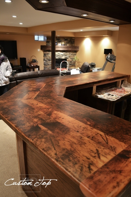 kitchen islands with seating for 2 floating shelves reclaimed wood bar & island tops | hd threshing ...