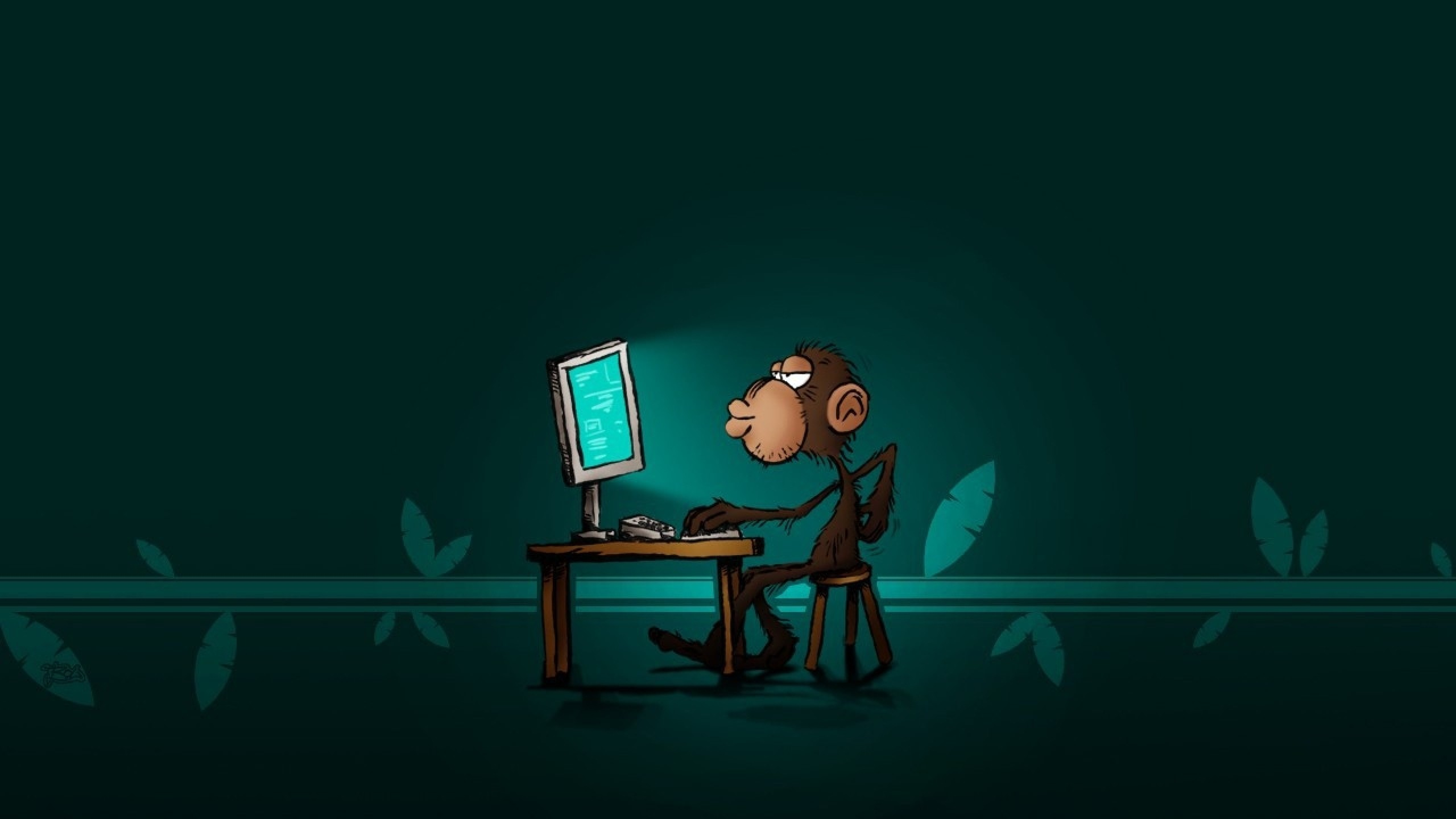Cute Monkey Wallpapers For Mobile Monkey On The Computer Wallpaper Hd Wallpapers Hd