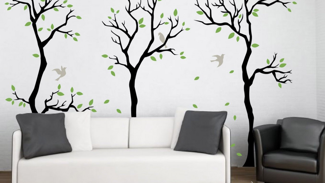forestwalldecalwalldecorremovablemattevinylwallstickers3  HD Wallpapers  HD