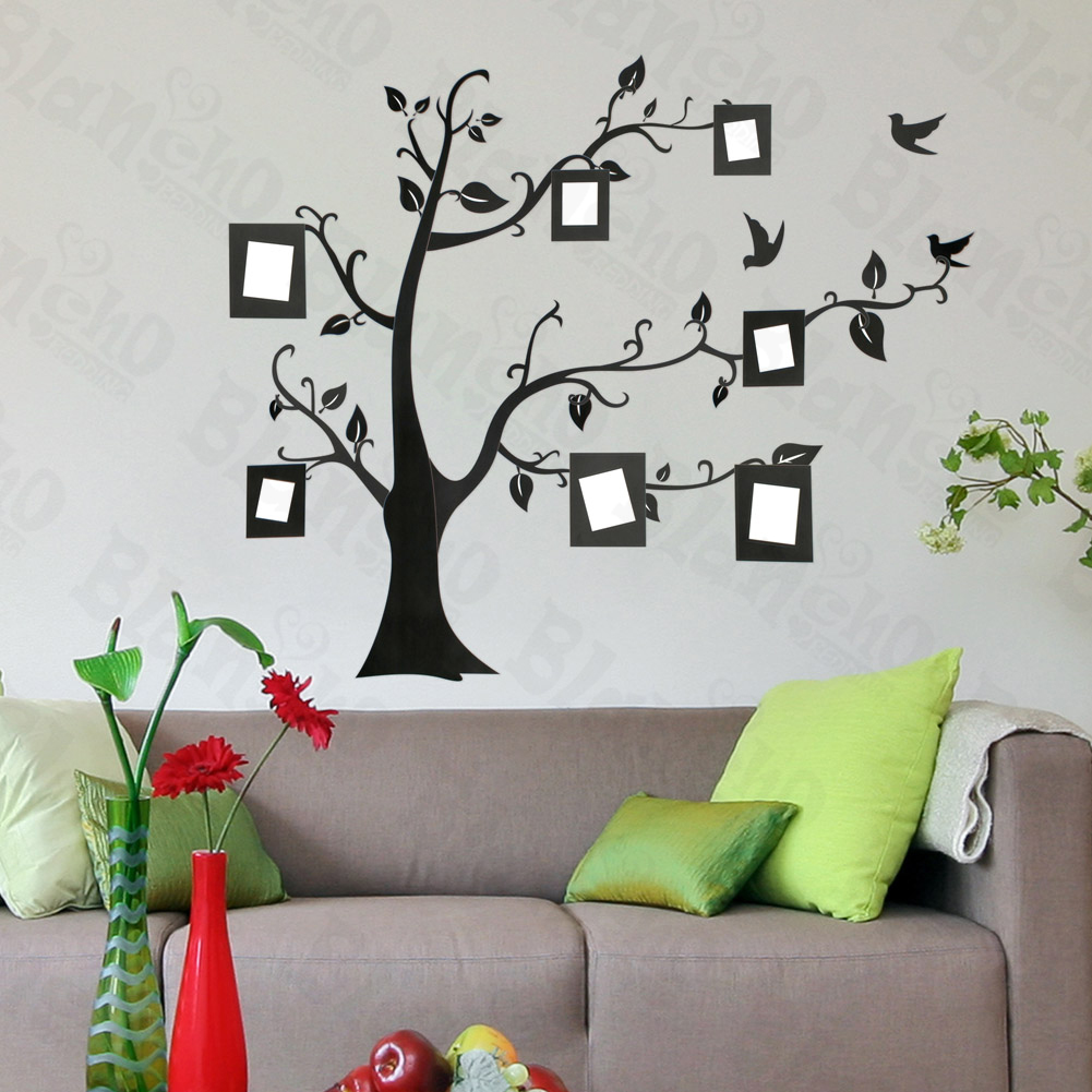 Girls Wallpaper Decals With Eiffel Tower Memory Tree Large Wall Decals Stickers Appliques Home