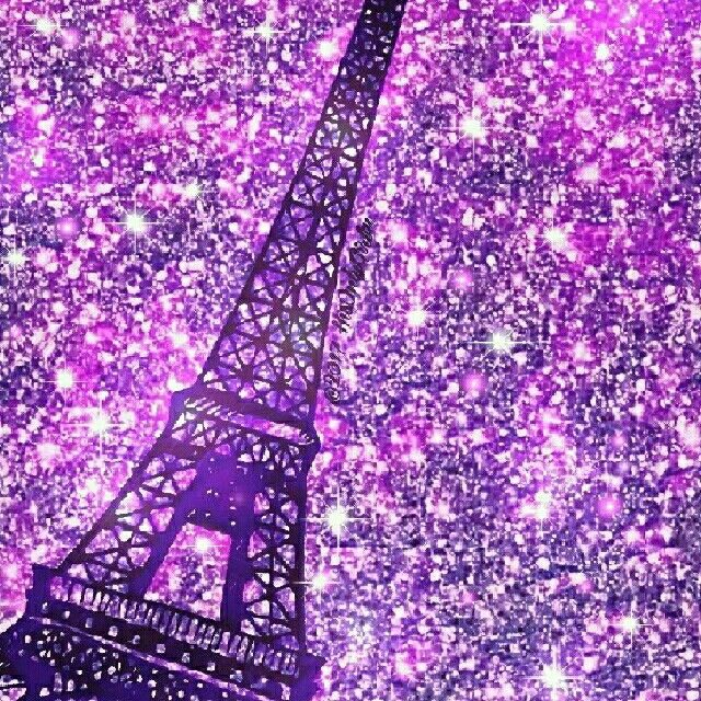 Love Quotes Mobile Wallpaper Download Purple Eiffel Tower Iphone Android Glitter Wallpaper Hd
