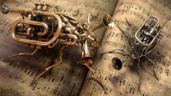 Steampunk Trumpet Bugs