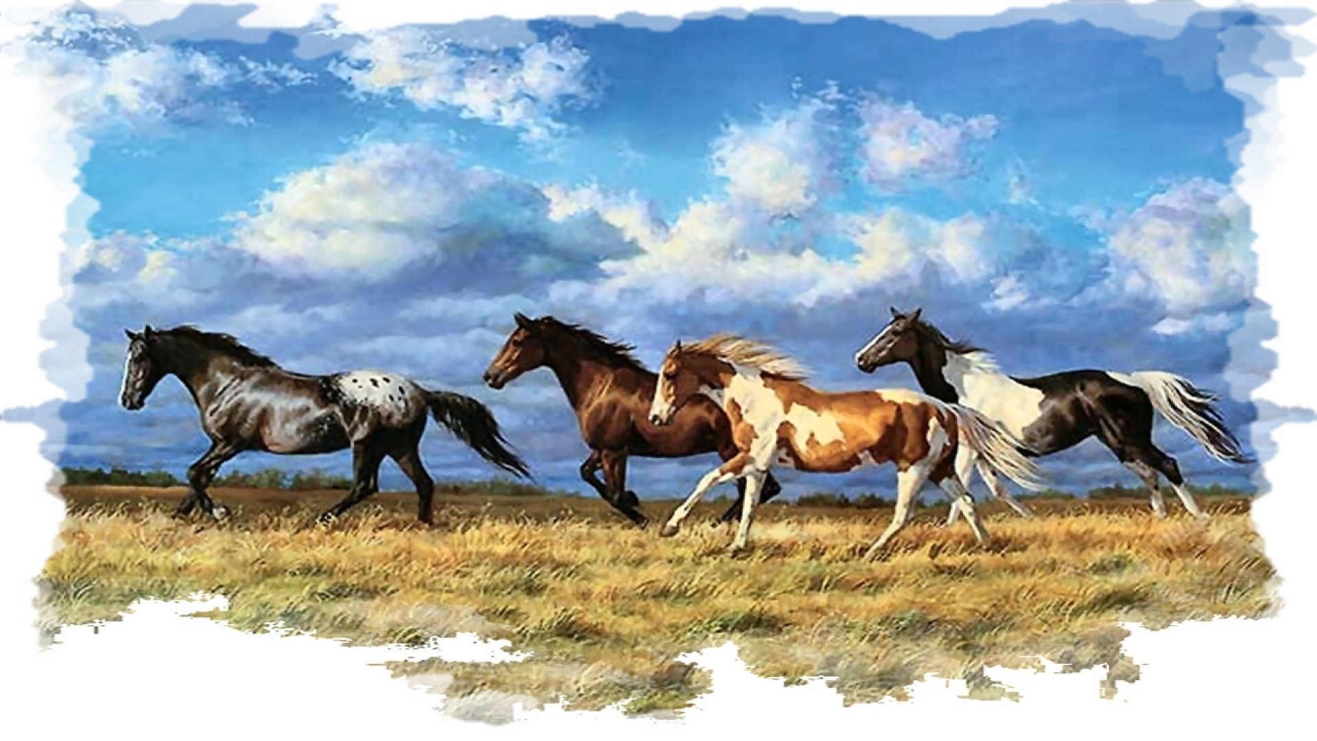 Iphone Cowboys Wallpaper Horse Painting Wallpapers Pictures Images