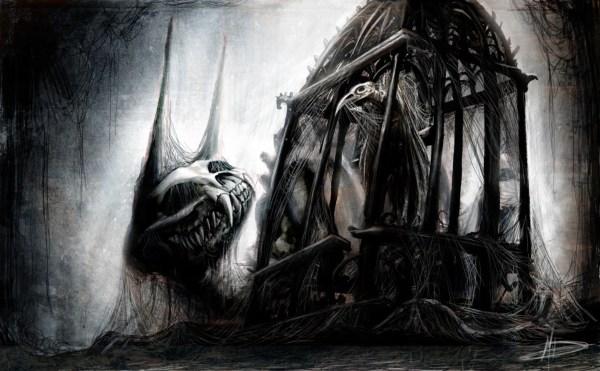 Creepy Dark Monster Art