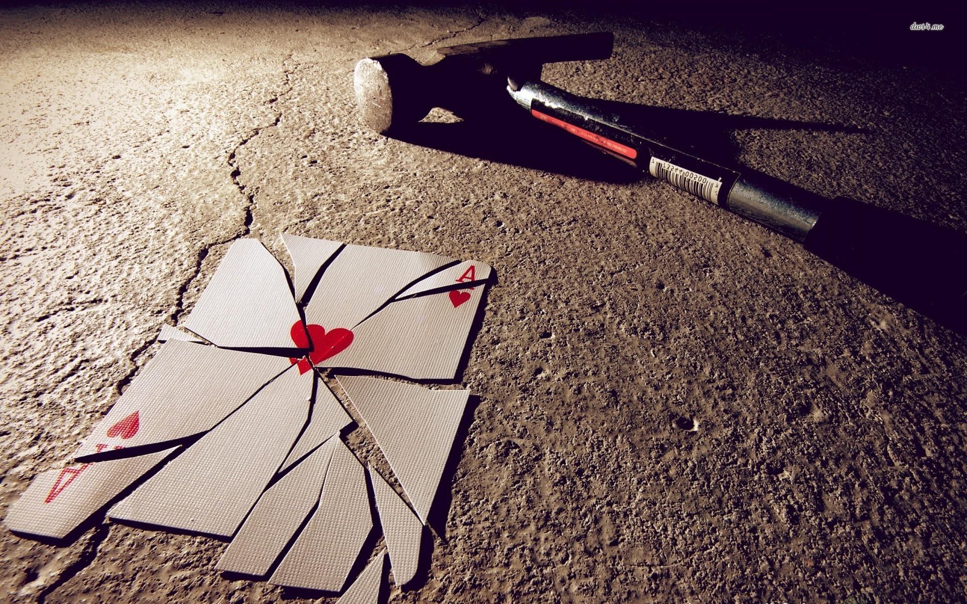3d Broken Hearts Wallpaper Poker Backgrounds Pictures Images