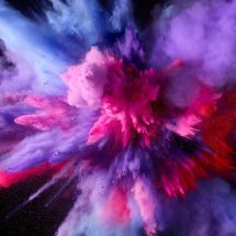 Hd Purple And Pink Splash Colors - Wallpaper