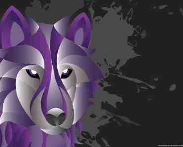 Charoite Wolf