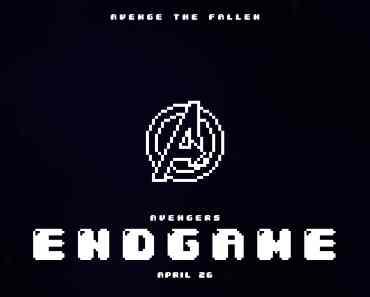 Avengers : Endgame Pixel Poster