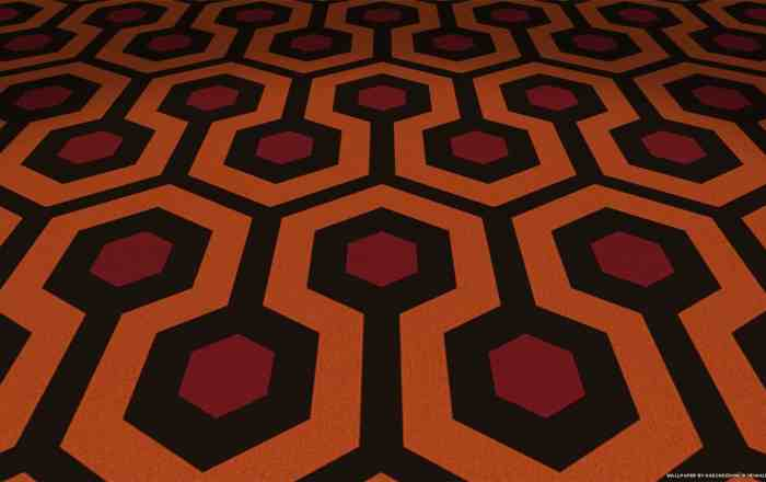 Keep Shining Wallpaper - 1600 x 900   Our Keep Shining Wallpaper is spooky. The classic carpet pattern with effects make this Kubrick tribute wallpaper.