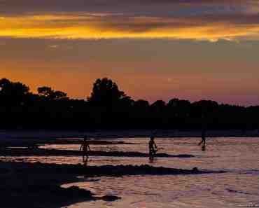 Sunset at Carcans lake – France