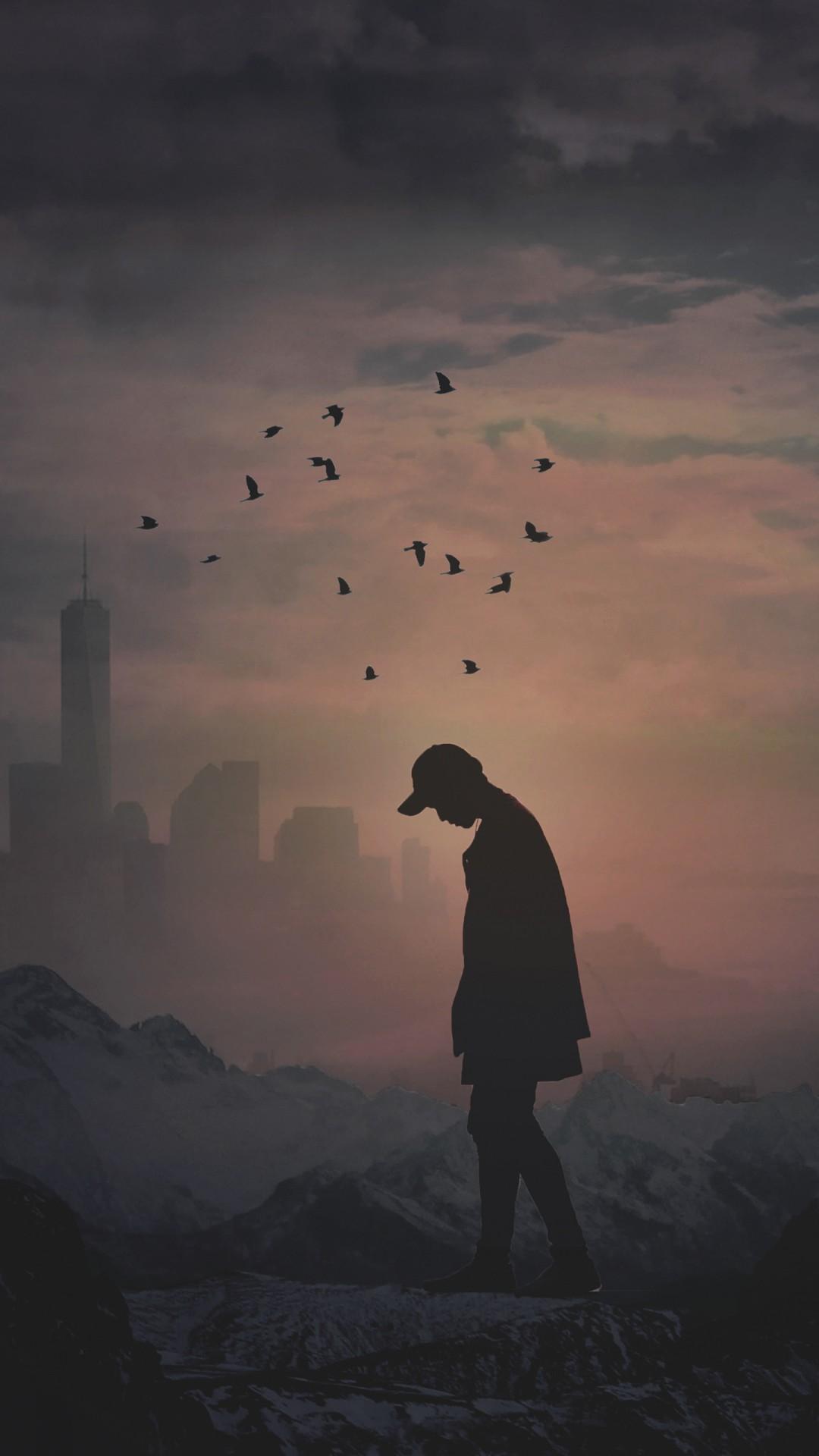 Lonely Boy Wallpaper Hd Alone Silhouette 4k Wallpapers Hd Wallpapers Id 24418
