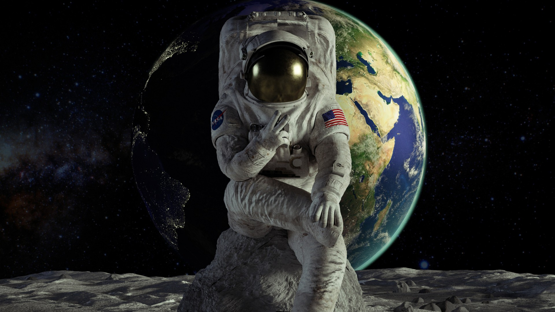 3d Cute Wallpapers Download Astronaut Wallpapers Hd Wallpapers Id 27236