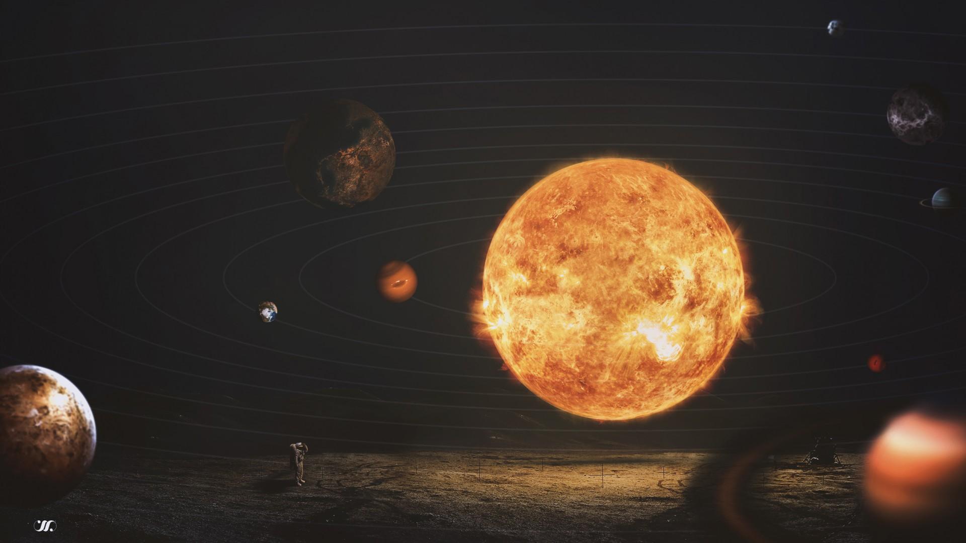 solar system size