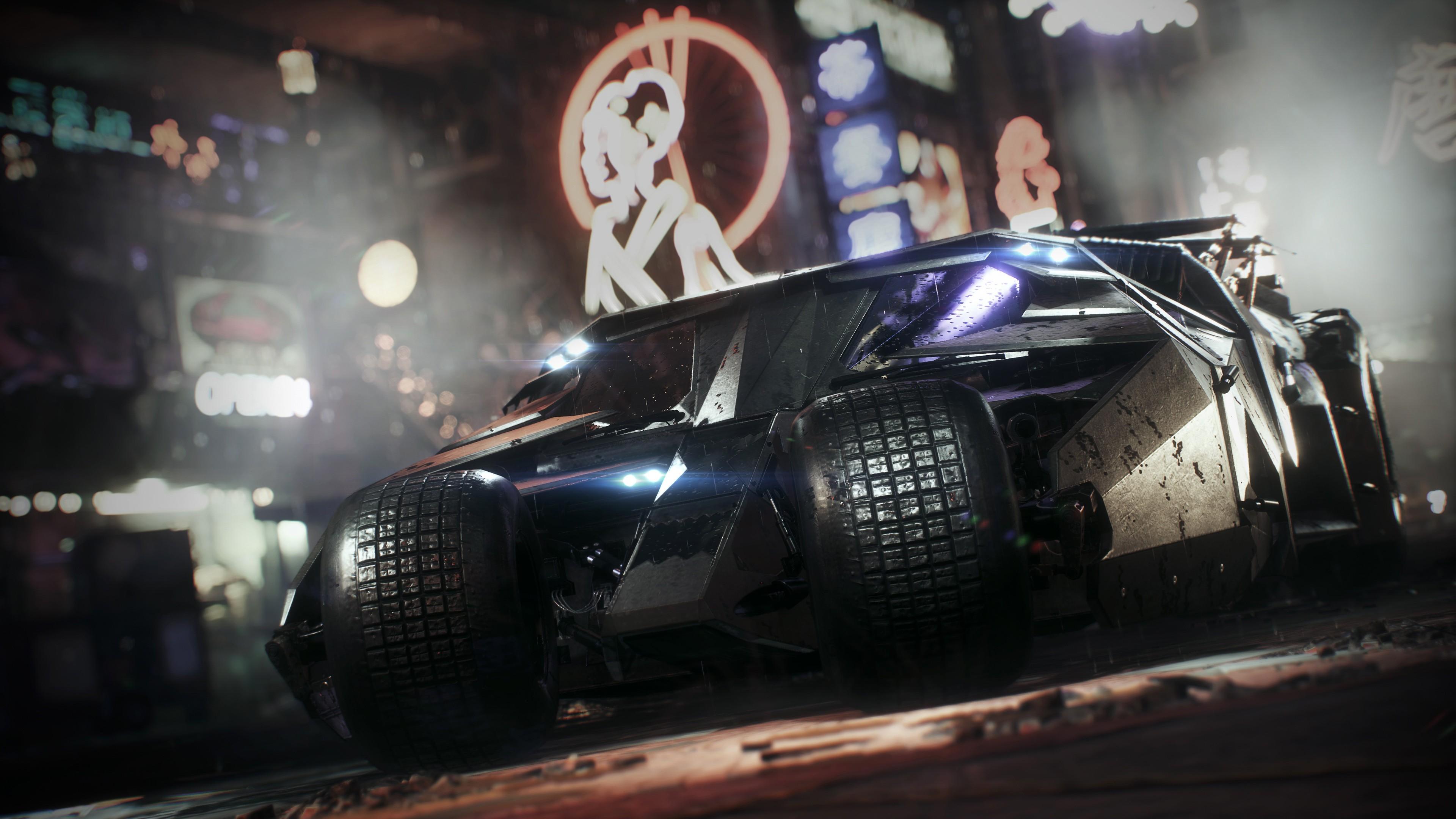 Batman Arkham Knight Car Wallpaper Batman Tumbler Batmobile 4k Wallpapers Hd Wallpapers
