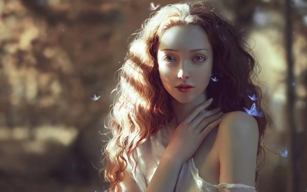 Beautiful Woman Digital Art Wallpapers Hd