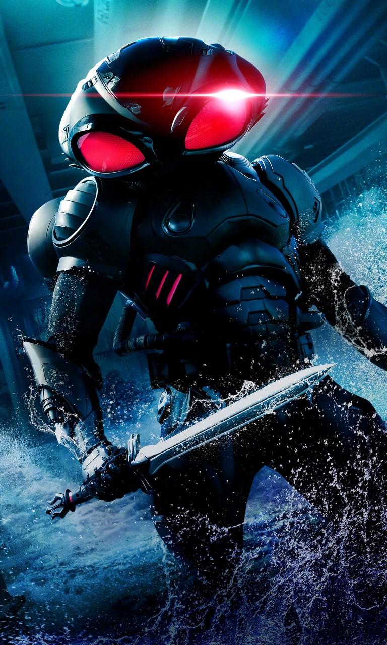Iphone 5s Wallpaper 3d Black Manta In Aquaman Wallpapers Hd Wallpapers Id 26546