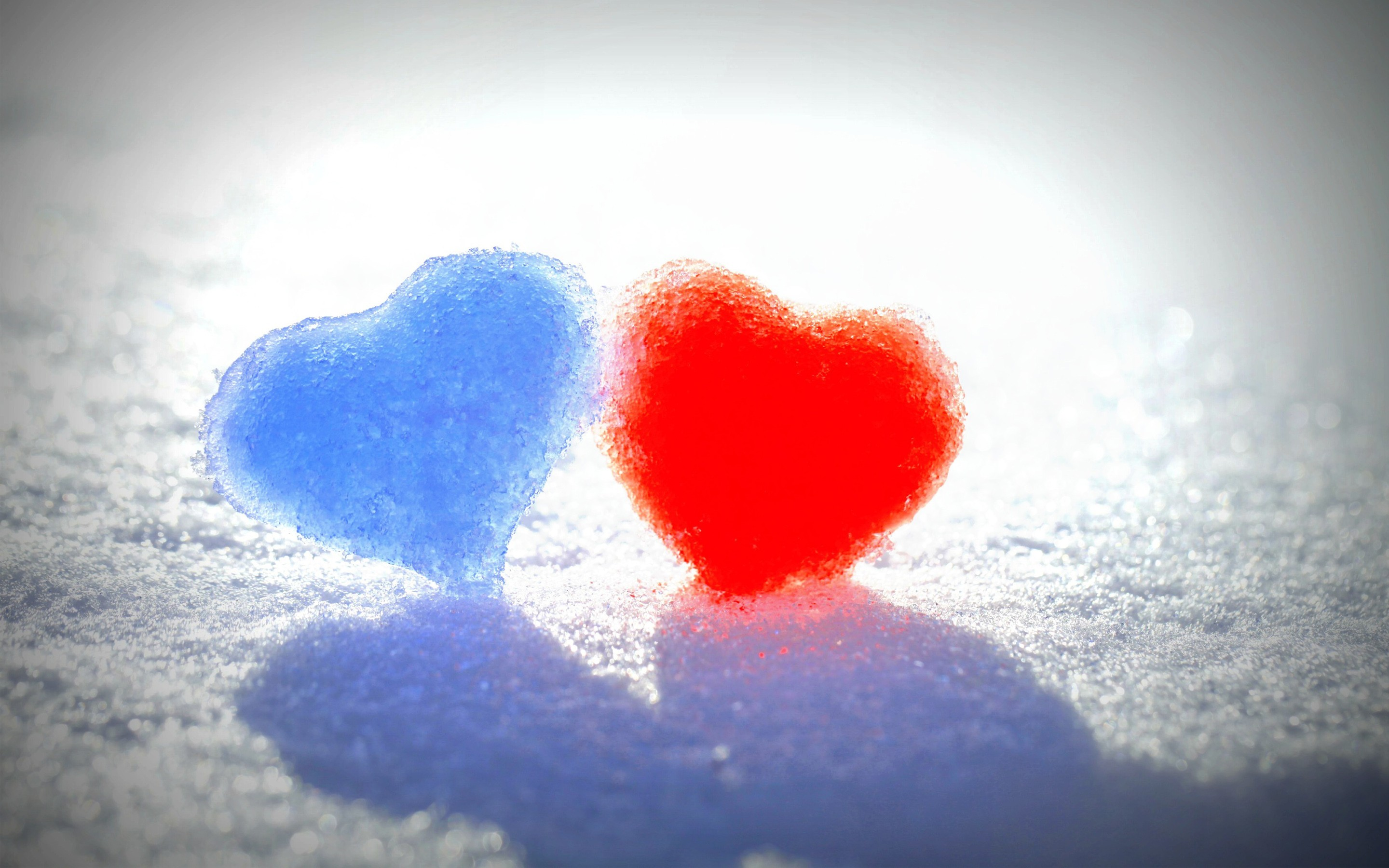 Iphone X Live Wallpaper Android Blue Red Snow Hearts Wallpapers Hd Wallpapers Id 14317