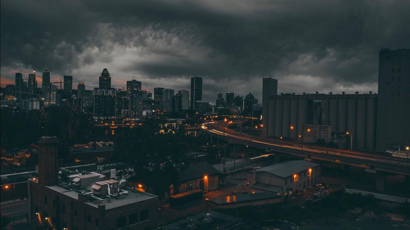 Red aesthetic background 4k : Bridge Between Buildings And Godowns HD Dark Aesthetic ...