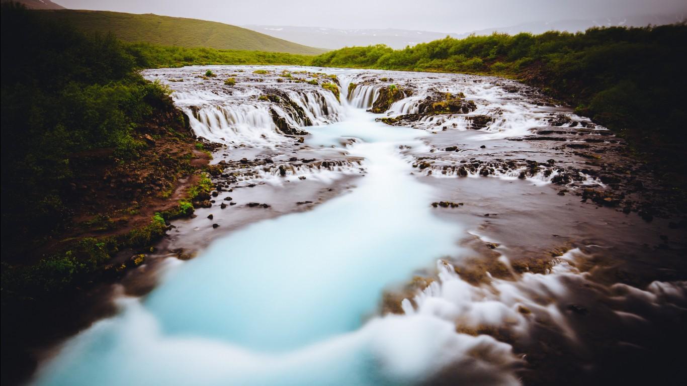 Windows 7 3d Wallpaper Hd Bruarfoss Waterfall In Iceland 4k 5k Wallpapers Hd