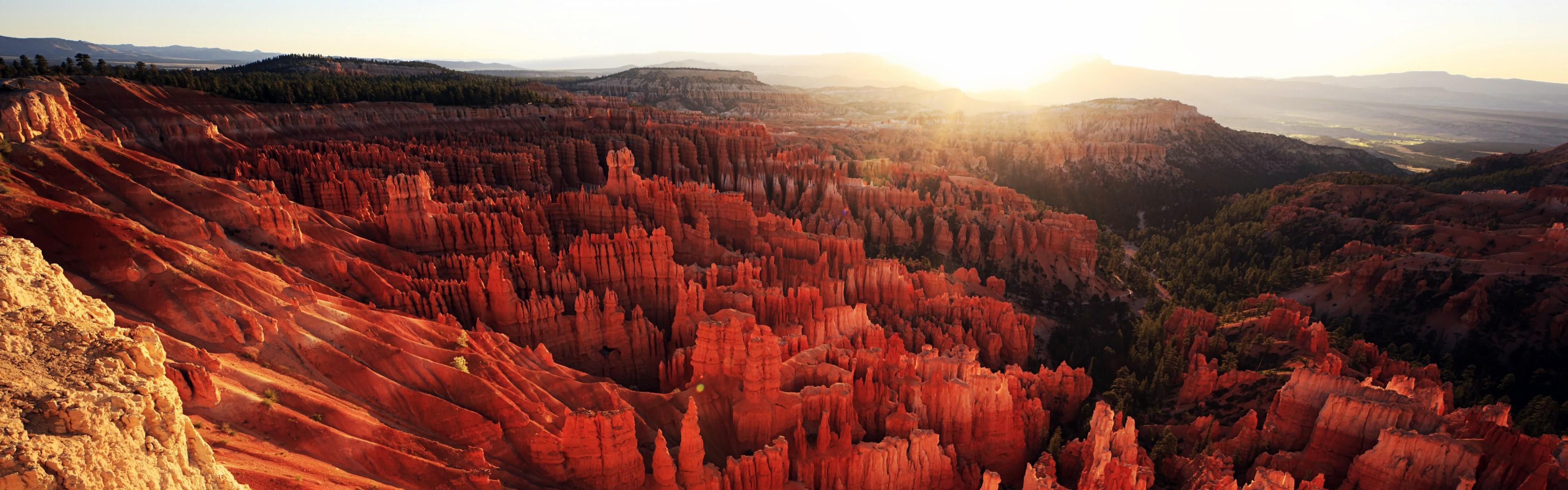 Bryce Canyon Rocks National Park Utah Panorama Wallpapers
