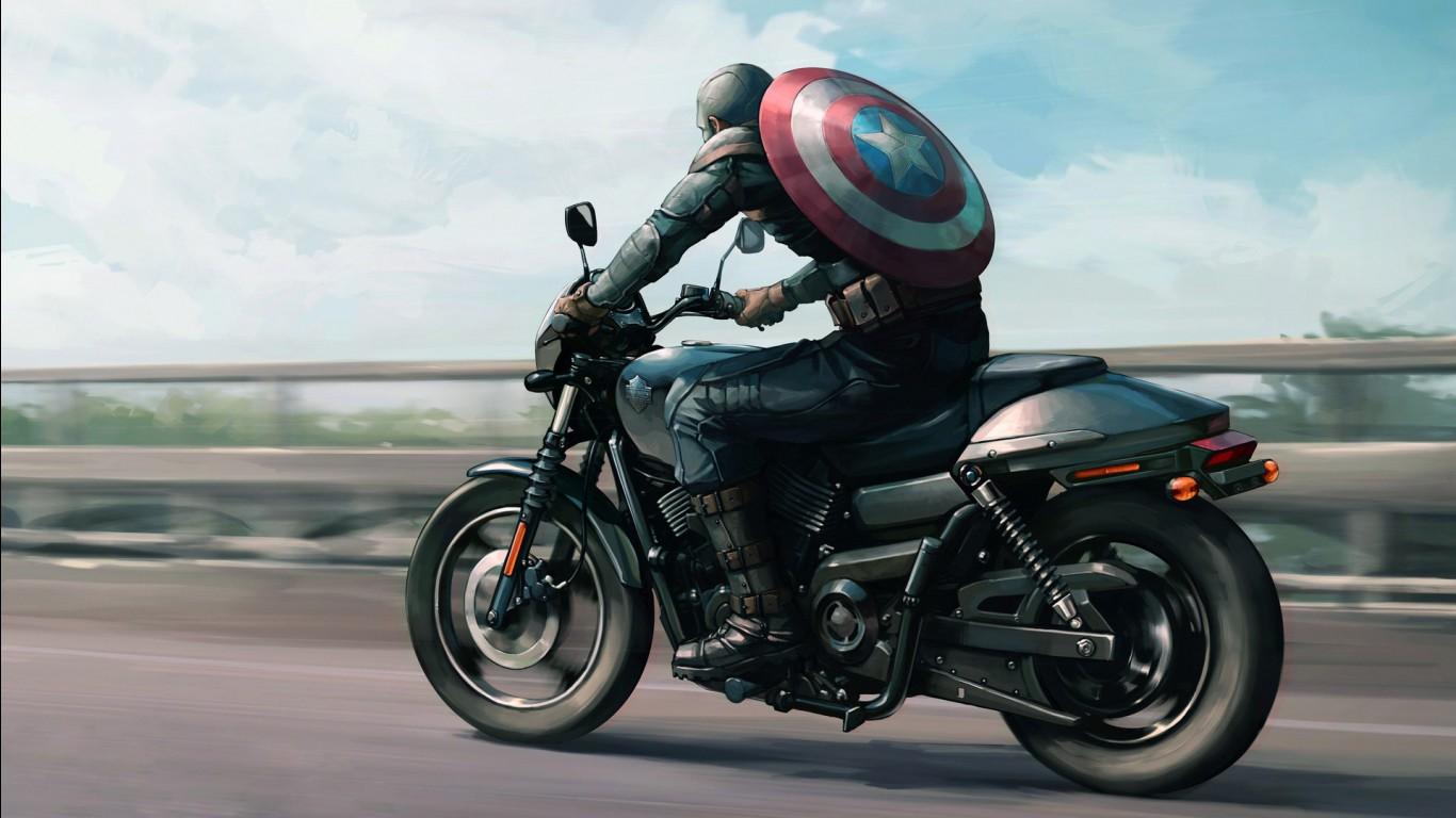 Love Wallpaper For Iphone 5 Captain America Harley Davidson Artwork Wallpapers Hd