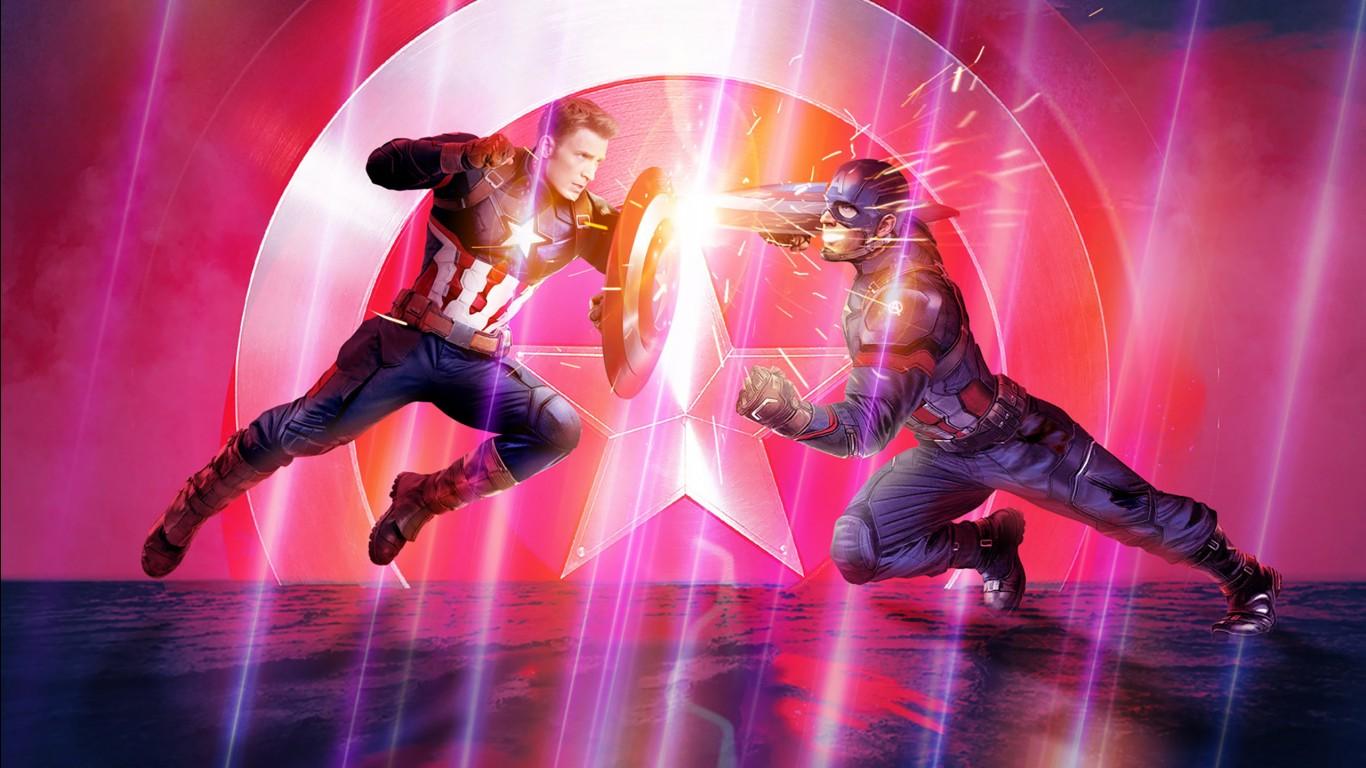 Angel 3d Wallpaper Desktop Captain America In Avengers Endgame Wallpapers Hd