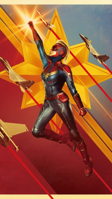 Animated Iphone X Wallpaper Captain Marvel 4k 2019 Wallpapers Hd Wallpapers Id 27568