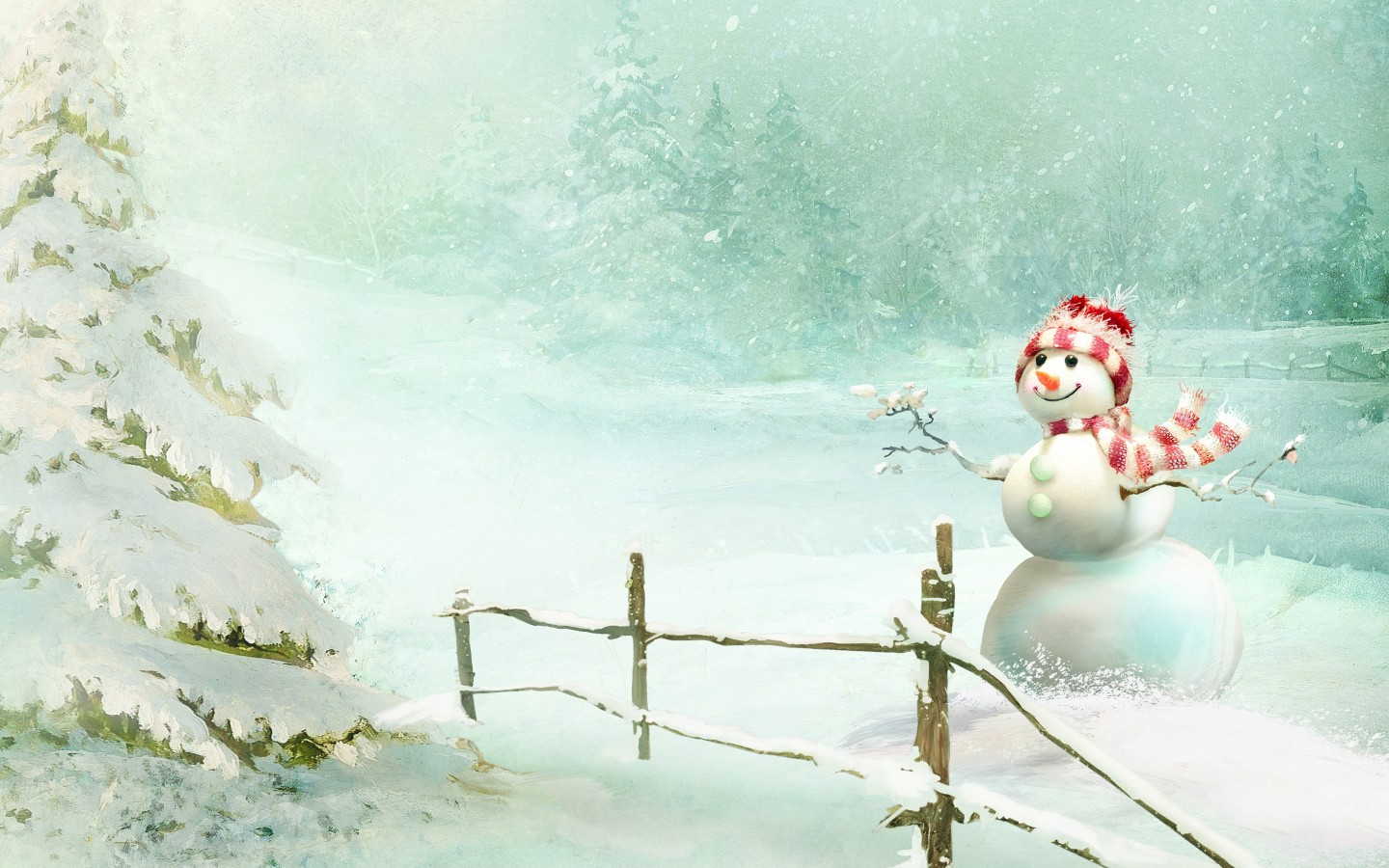 Christmas Snowman Wallpapers HD Wallpapers ID 16511