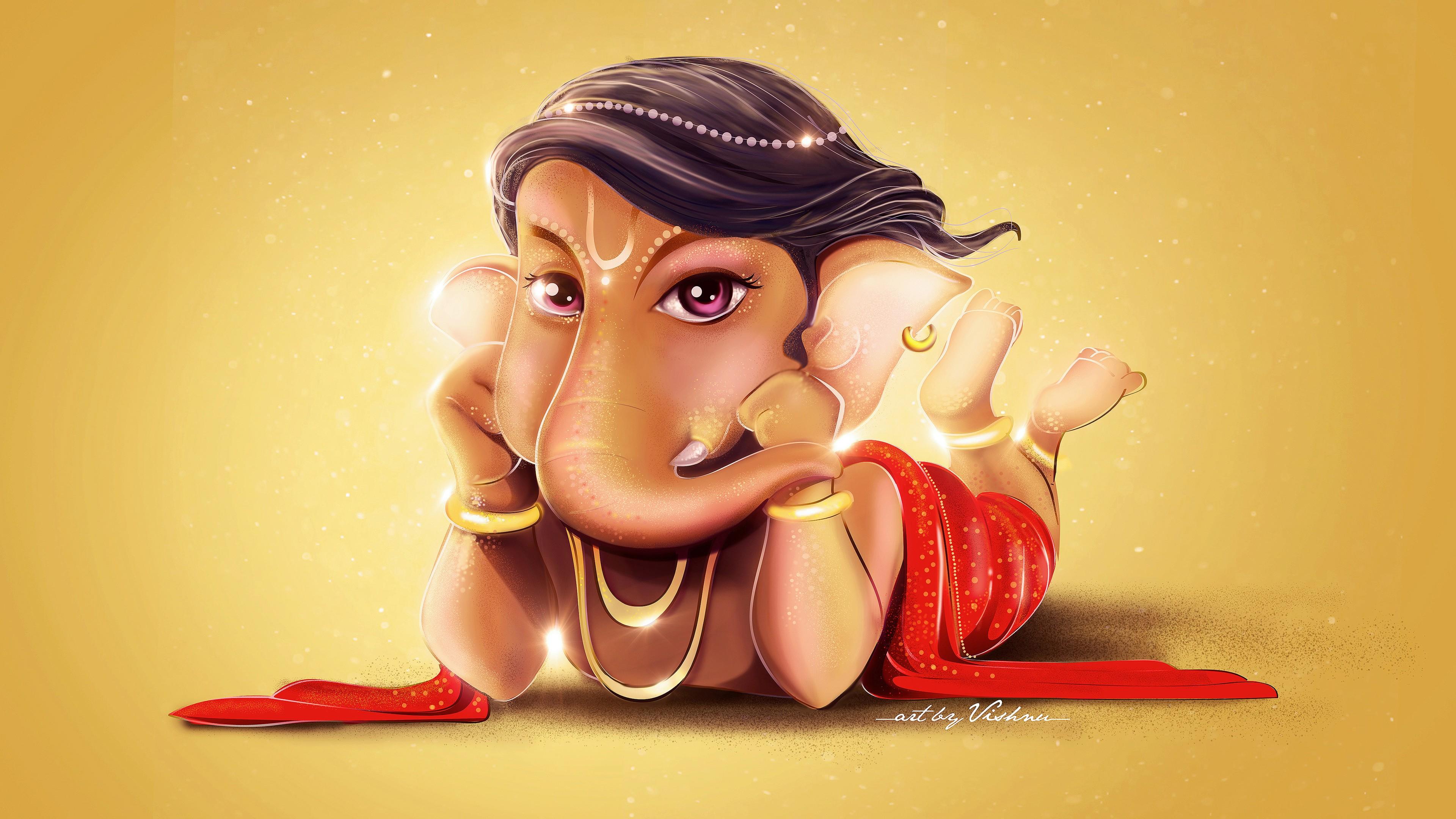 Cute Bal Ganesh Wallpaper Cute Lord Ganesha Hd 4k Wallpapers Hd Wallpapers Id 20942