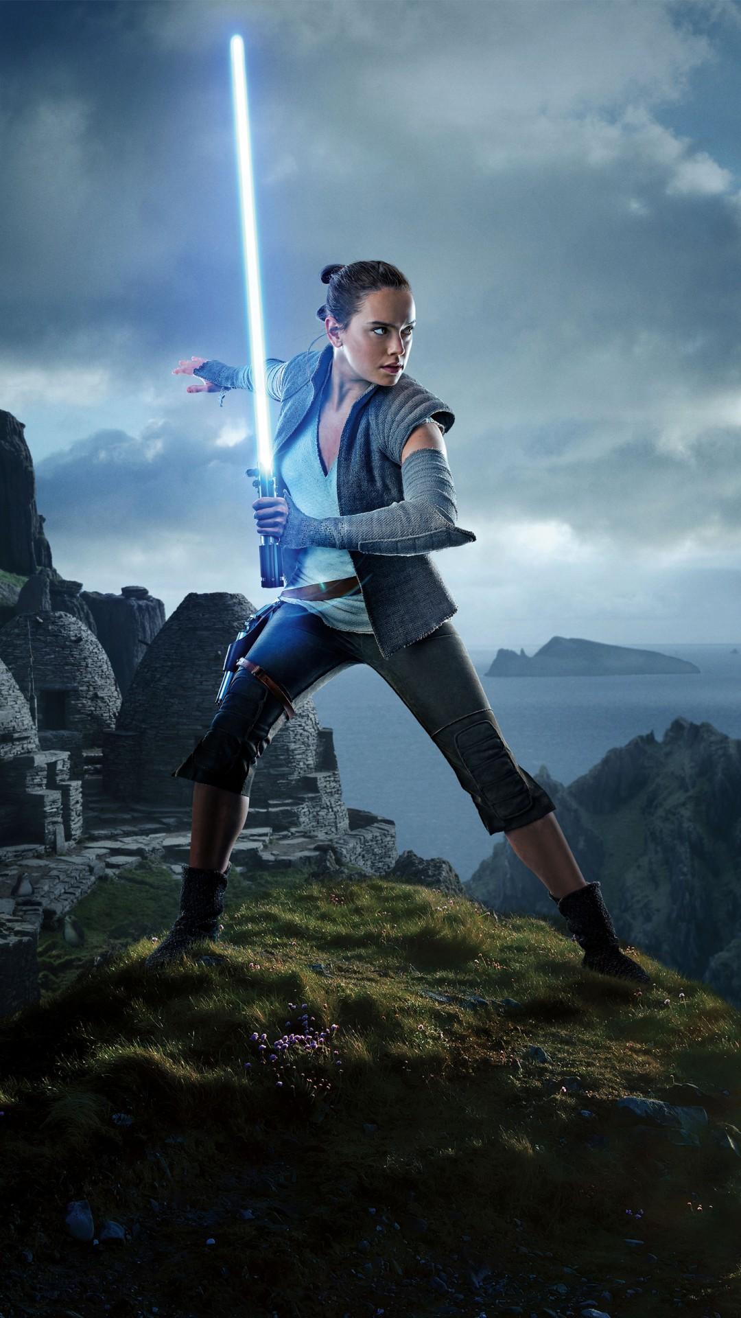 Star Wars The Last Jedi Wallpaper Iphone X Daisy Ridley As Rey Star Wars The Last Jedi 5k Wallpapers