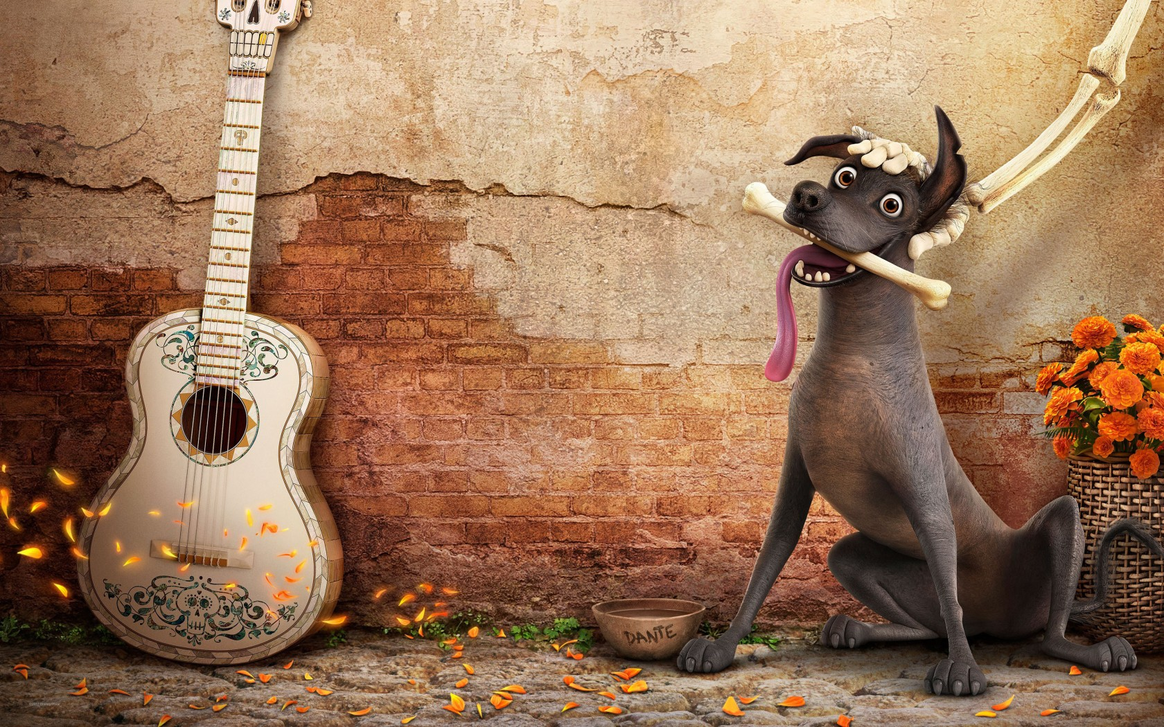 Cute Baby Doll Wallpaper Dante Dog In Coco Wallpapers Hd Wallpapers Id 22411