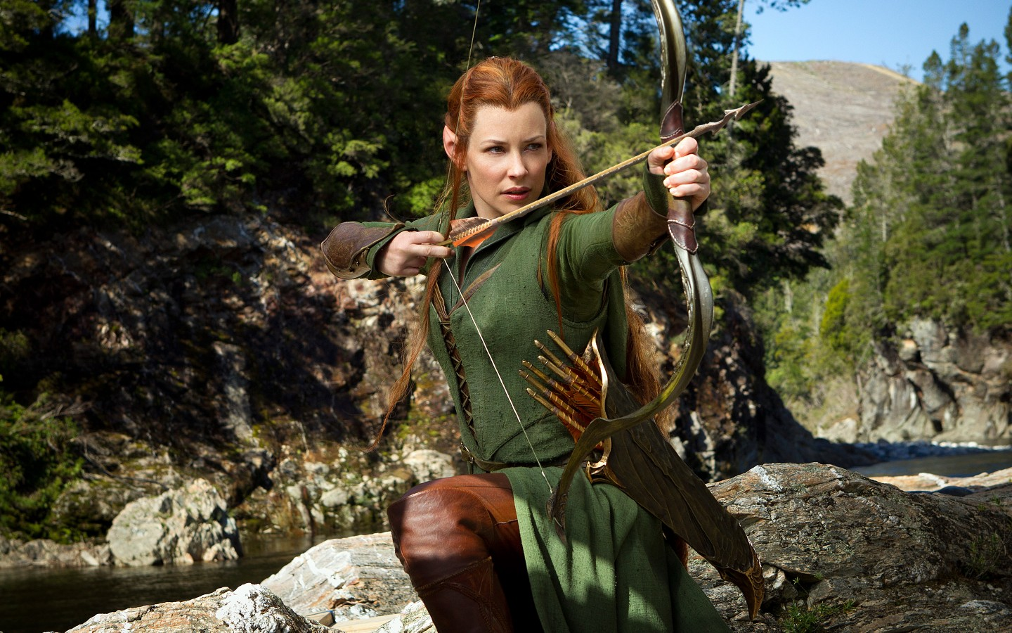 Cute Iron Man Wallpapers Evangeline Lilly As Tauriel In Hobbit Wallpapers Hd