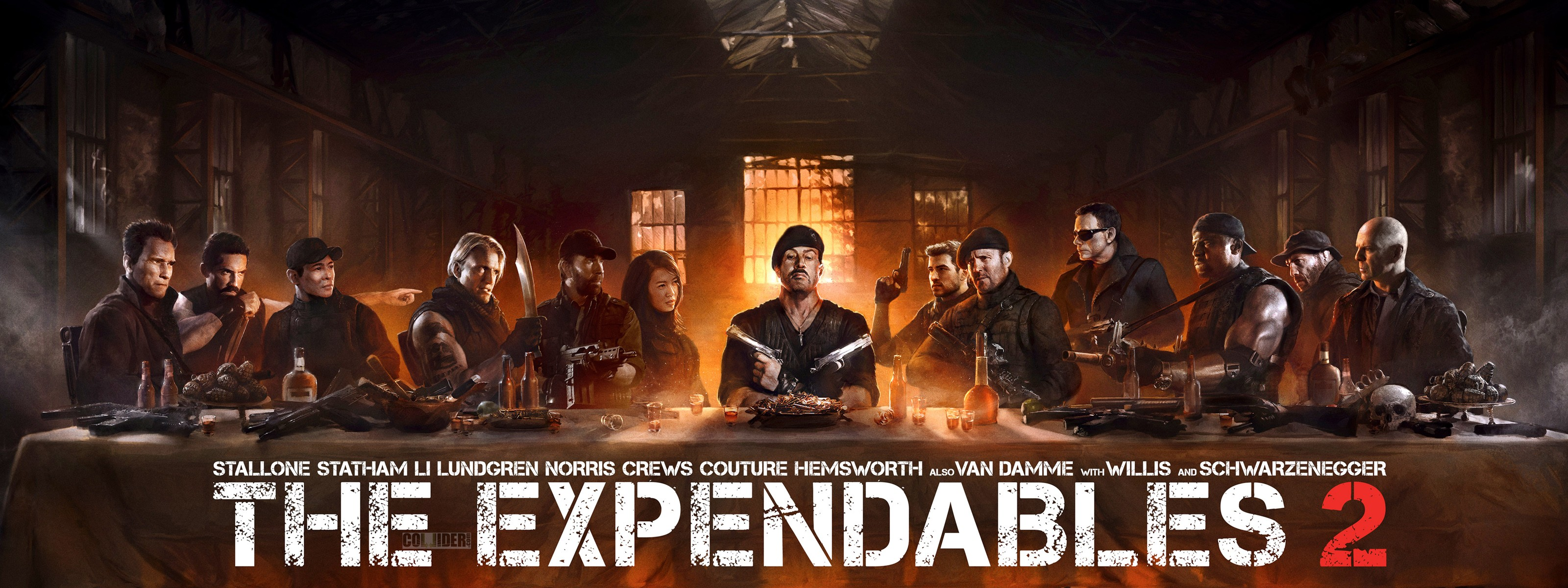 Anime Horror Wallpaper Expendables 2 The Last Supper Wallpapers Hd Wallpapers