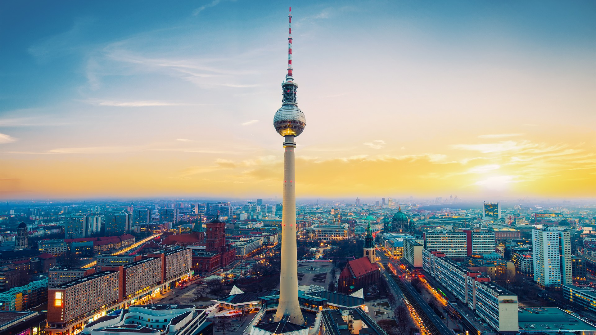 Iphone 5s Wallpapers Full Hd Fernsehturm Berlin Tv Tower Germany Wallpapers Hd