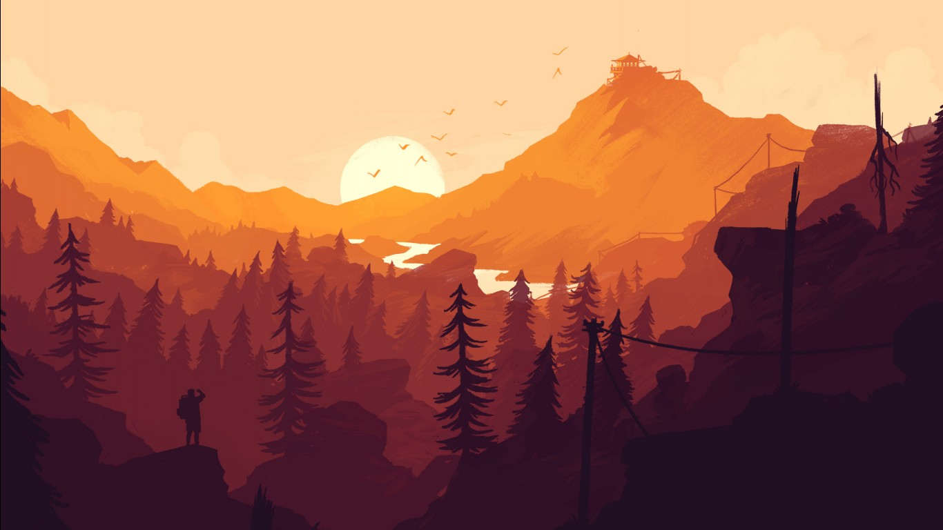 Full Hd Wallpapers For Iphone 4 Firewatch 2016 Game Wallpapers Hd Wallpapers Id 16819