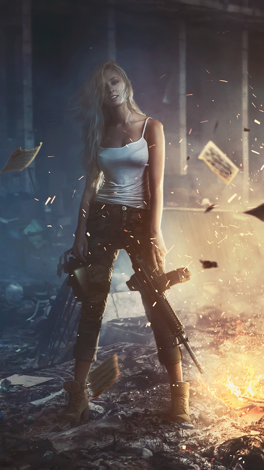Cute Girly Iphone 6 Wallpaper Girl With Gun Wallpapers Hd Wallpapers Id 25653