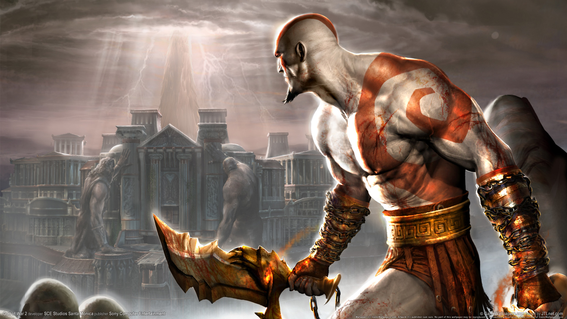 Crazy Iphone 5 Wallpapers God Of War 2 Ps2 Game Wallpapers Hd Wallpapers Id 1552