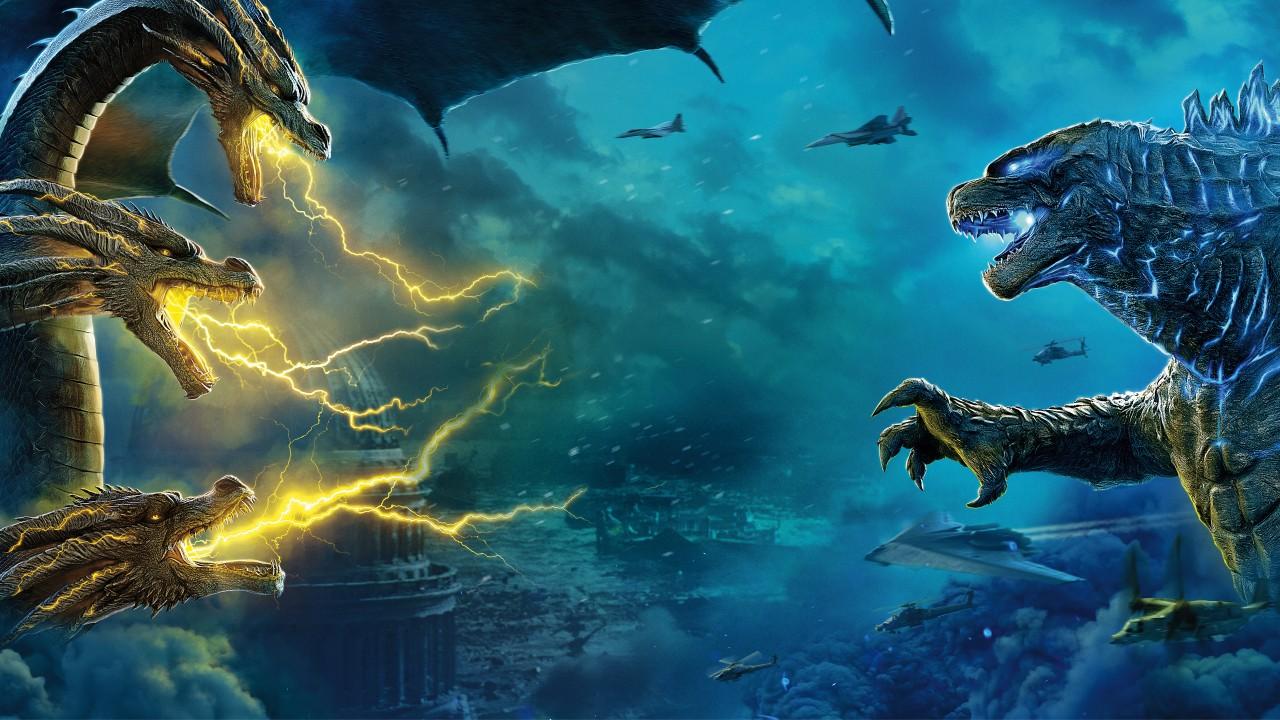 Iphone 5s Wallpaper 3d Godzilla Vs King Ghidorah 5k Wallpapers Hd Wallpapers