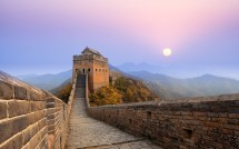 Great Wall Of China Sunrise Wallpapers Hd
