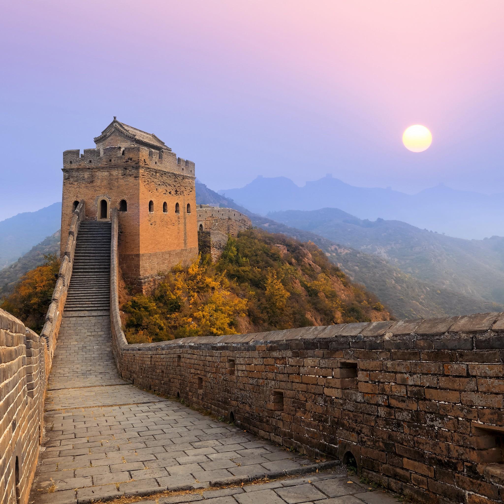 China Wallpaper Full Hd Great Wall Of China Sunrise Wallpapers Hd Wallpapers